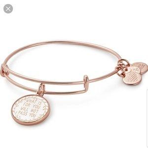 Alex and ani rose gold bangle bracelet